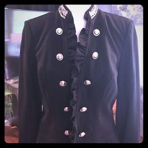 Black military style jacket
